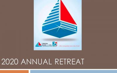 2020 ANNUAL RETREAT HELD ON 15 & 16 JANUARY IN LAGOS.